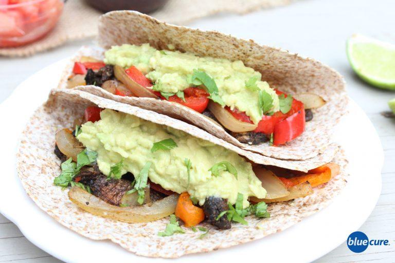 Mushroom-Fajitas-with-avocado