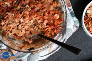 creamy tomato vegan pasta bake