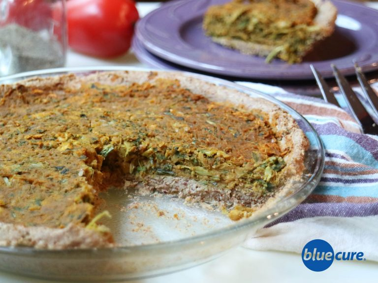 Vegan Chickpea Quiche with Almond Crust