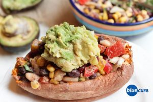 Loaded sweet potato with avocado
